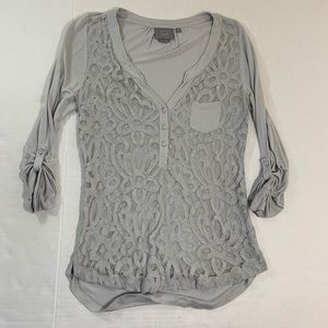 Anthropologie Vanessa Virginia BOHO T Shirt Top S